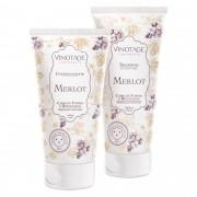 Combo: Shampoo Merlot 200 ml + Condicionador Merlot 140 ml.