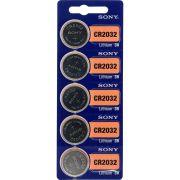 Baterias Sony Cr2032 Cartela Com 5 Unidades
