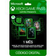 Cartão Assinatura Xbox Game Pass (1 Mês) - XBOX One