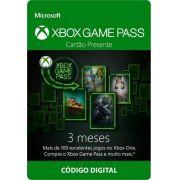 Cartão Assinatura Xbox Game Pass (3 Meses) - XBOX One