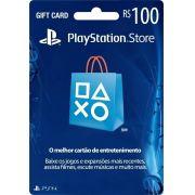 Cartão PSN Brasil R$100 Ps4 e Ps3