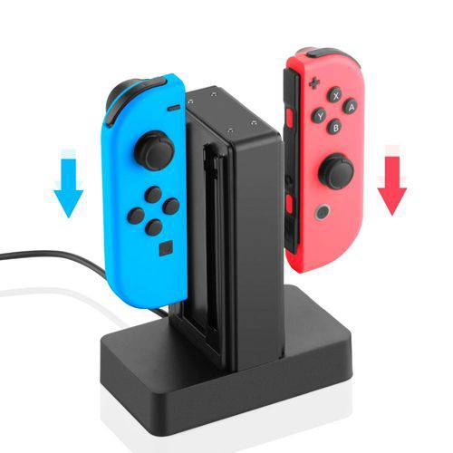 Base Carregador Para Joy-con Nintendo Switch Até 4 Joy-con Knup