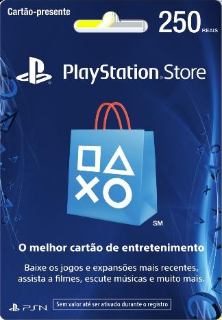 Cartão PSN Brasil R$250 Ps4 e Ps3