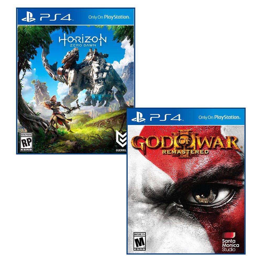 Combo Horizon: Zero Dawn + God of War 3 - PS4 embalagem Cartão