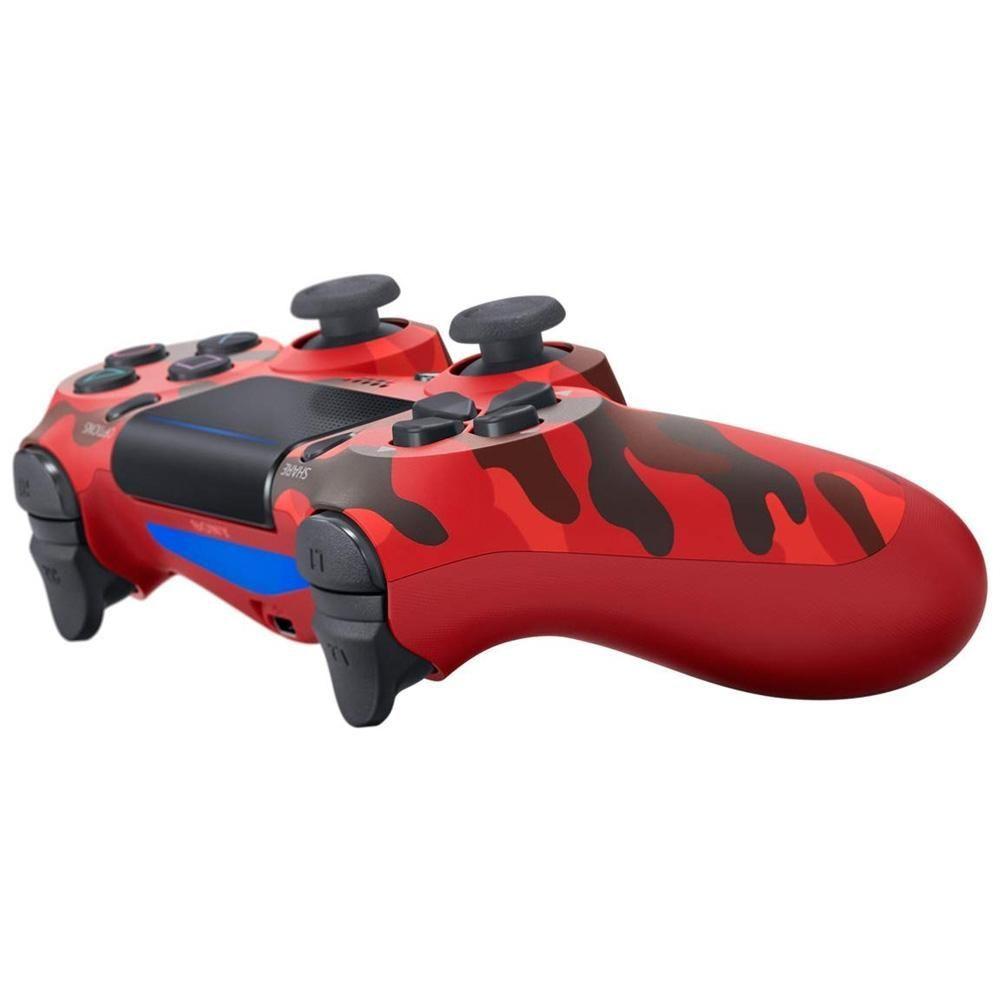 Controle Sony Dualshock 4 Camuflado Vermelho sem fio (Com led frontal) - PS4