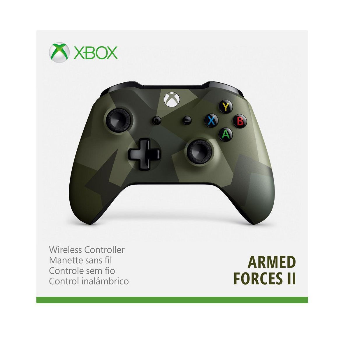 Controle Microsoft Camuflado Armed Forces 2  Xbox One