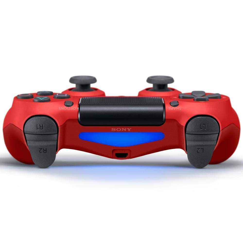 Controle Sony Dualshock 4 Vermelho sem fio (Com led frontal) - PS4