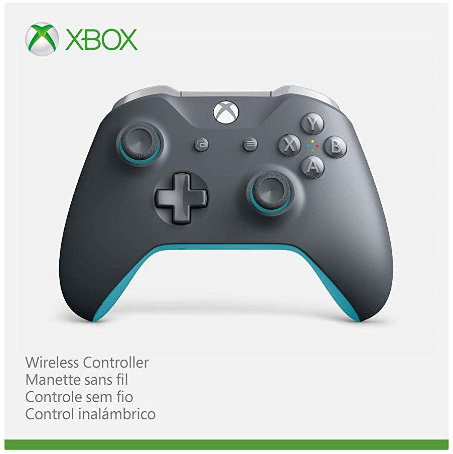 Controle sem fio Xbox One azul/cinza Microsoft