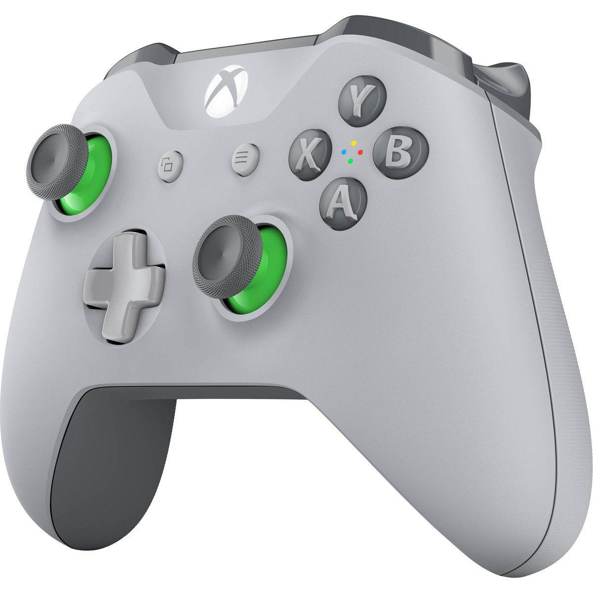 Controle sem Fio Xbox One Cinza/Verde Microsoft