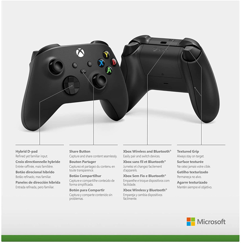 Controle Sem Fio Xbox One Series Carbon Black