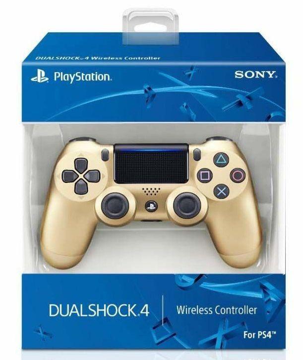 Controle sem Fio Dualshock 4 Sony PS4 Dourado CUH-ZCT2U