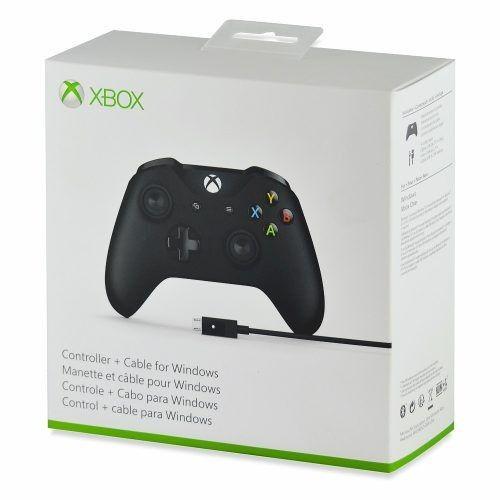 Controle Xbox One Sem Fio com Cabo Para Windows Preto