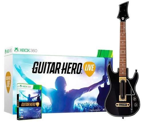 Guitar Hero Live Bundle - Xbox 360 Jogo + Guitarra