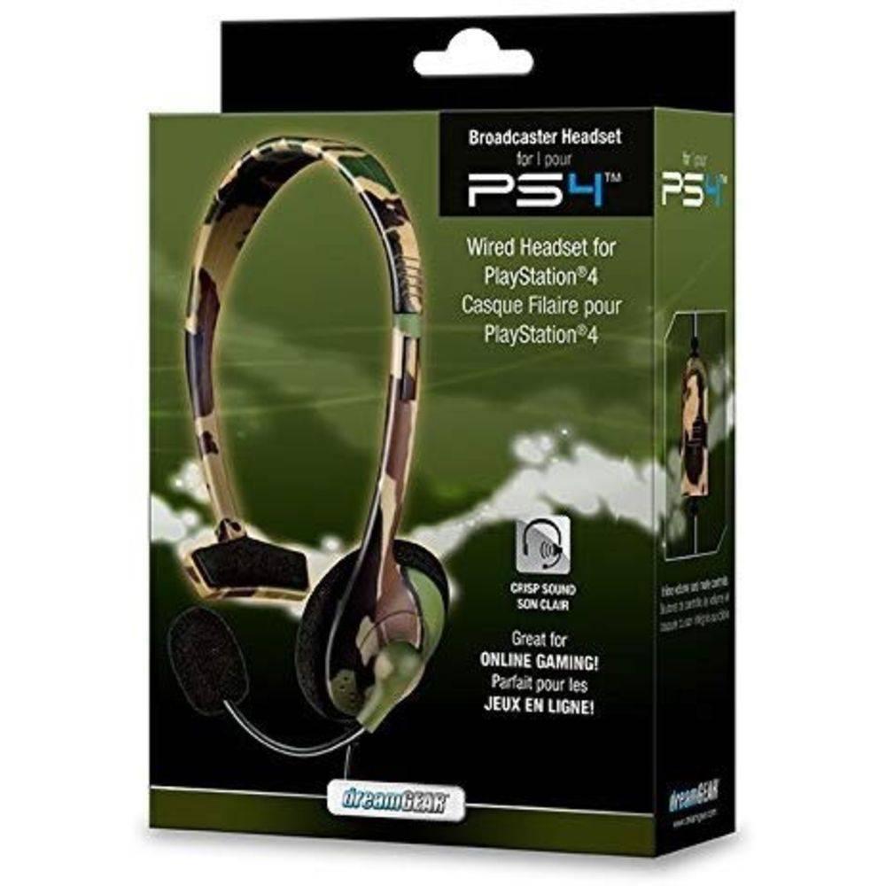 Headset Com Fio Dreamgear Ps4 Camuflado