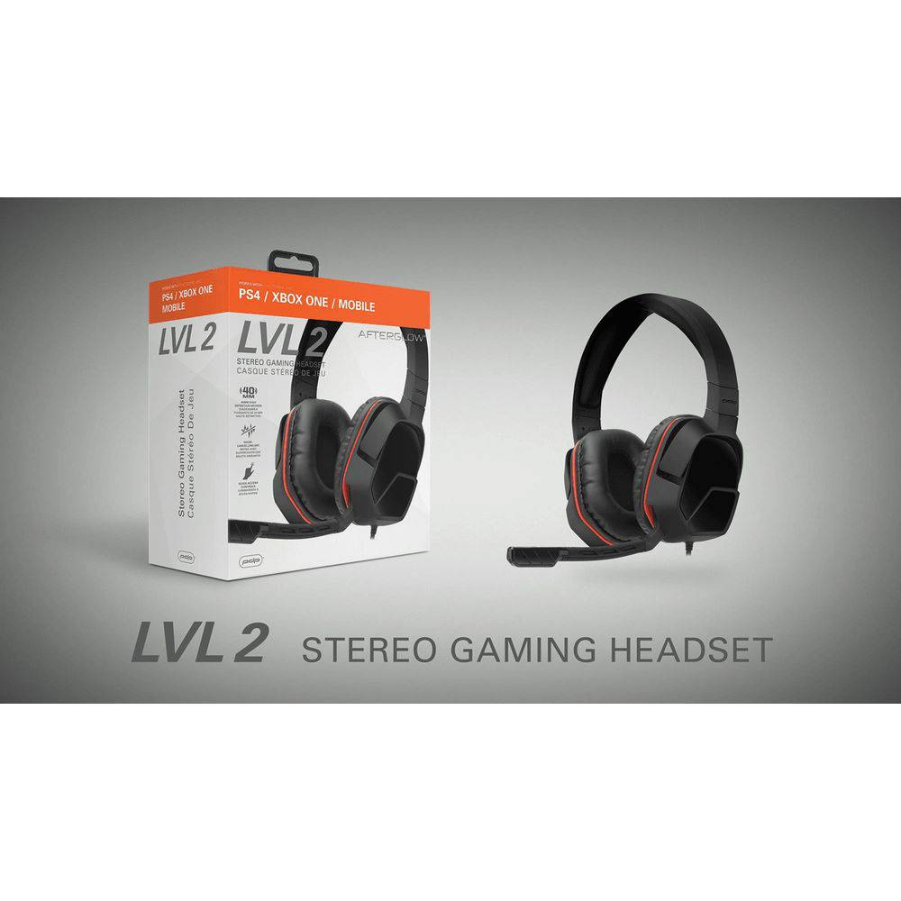 Headset Gamer Stereo Universal AfterGlow Lvl 2 P/ Xbox One, PS4, Pc e Mobile