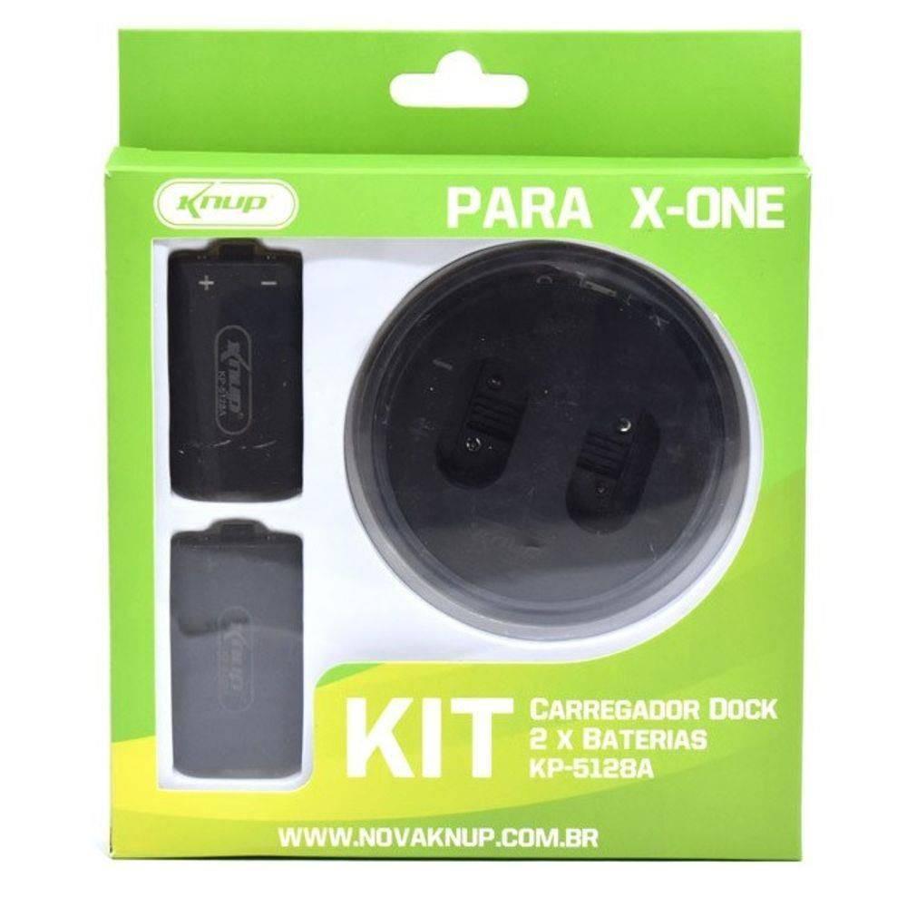 Kit 2 Baterias Xbox One Com Carregador Dock Kp 5128 A