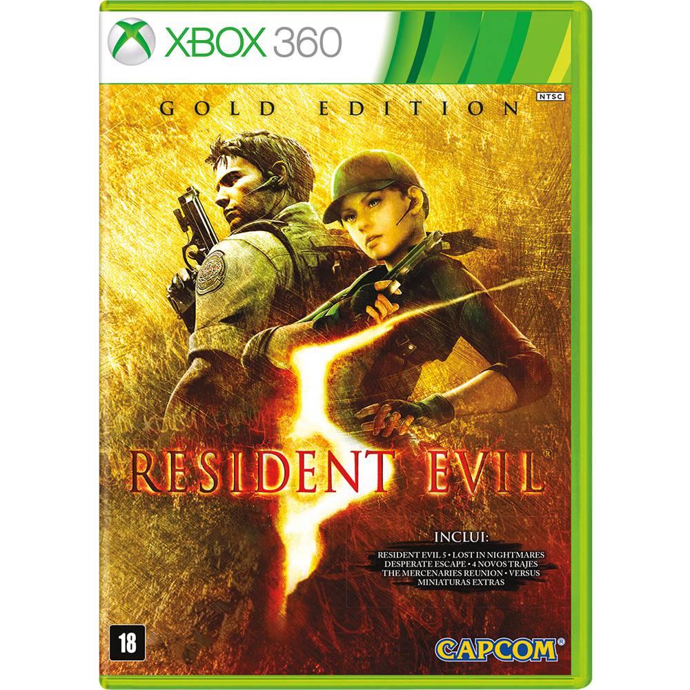 Jogo Resident Evil 5  Gold Edition - XBOX 360