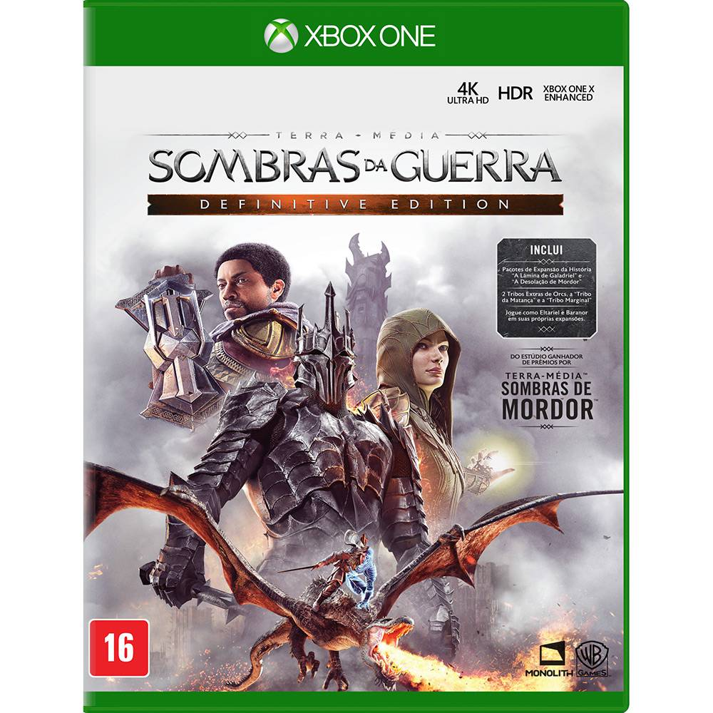 Sombras da Guerra Definitive Edition - Xbox One