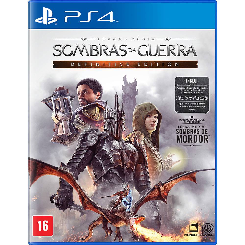 Sombras da Guerra Definitive Edition - PS4