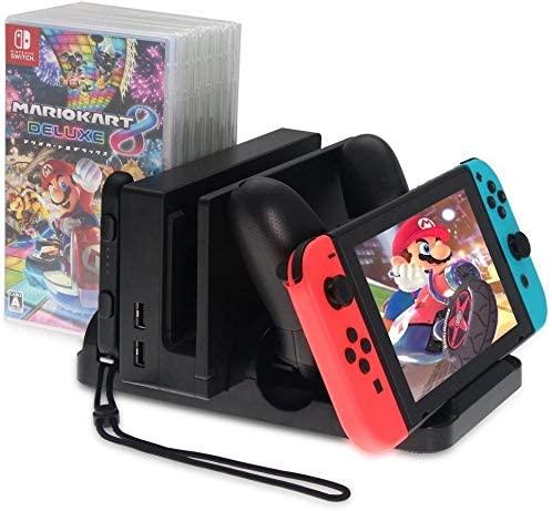 Suporte Multifuncional Nintendo Switch Dock Carregador Stand