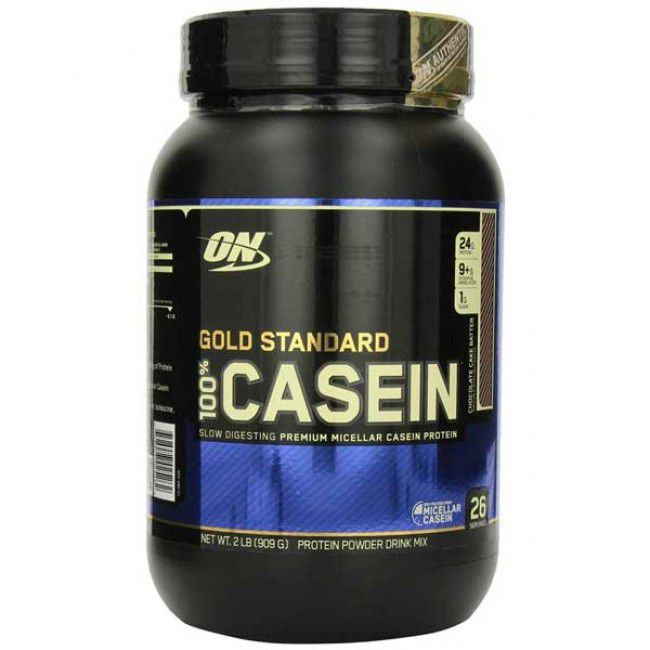 100% Casein Gold Standard (909g) Chocolate - Optimum Nutrition