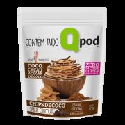Chips de coco com cacau (40g) - Qpod