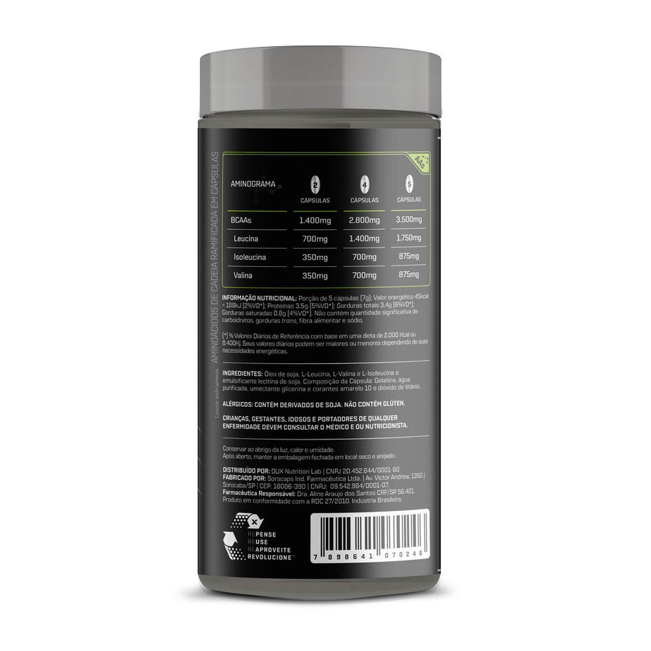 Bcaa 3500 (100 Cápsulas) - Dux Nutrition
