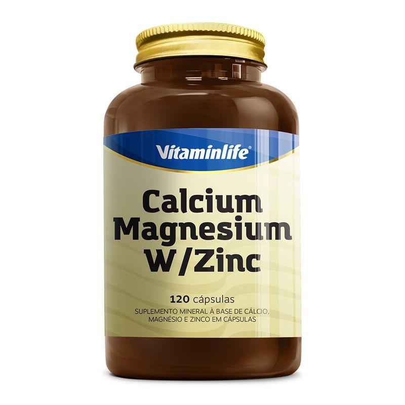 Calcium Magnesium W/Zinc (120 Cápsulas) - Vitaminlife