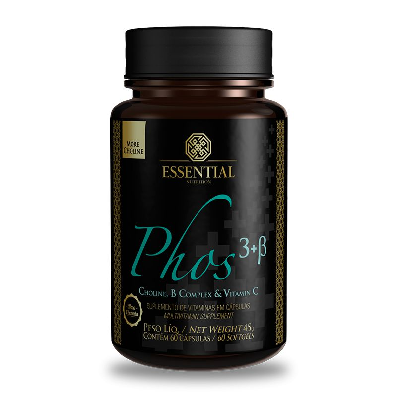 PHOS 3+B (60 Cápsulas) - Essential Nutrition