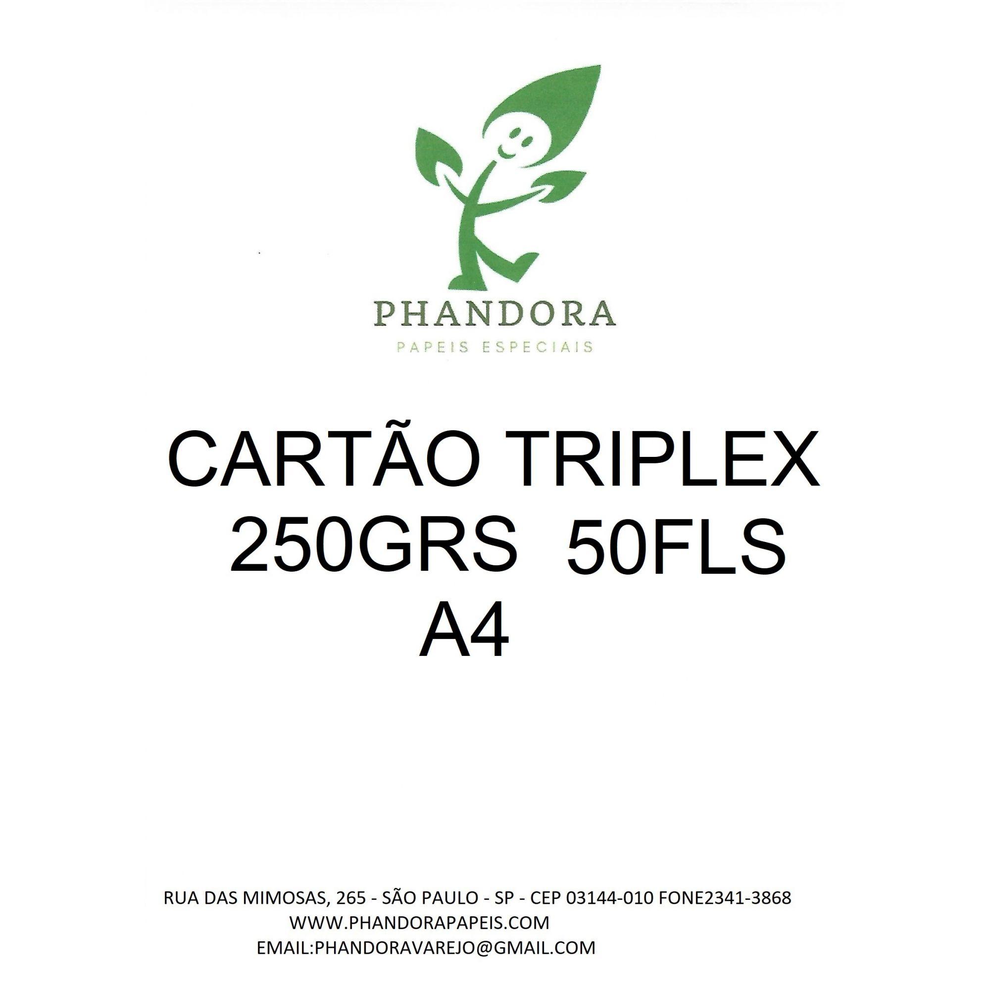 Papel Cartão Triplex 250g a4 embalagem com 50 folhas phandora