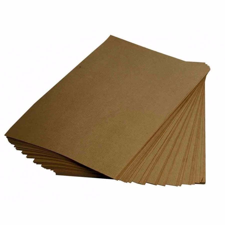 Papel Kraft 75g A4 Embalagem Com 100 Folhas