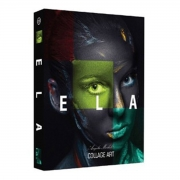 Book Box E L A Collage Art 26x17x4 cm