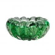 Cachepot de Vidro Murano Verde Esmeralda 6x14cm Cristais Tavares