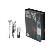 Caixa 3 Peças Aço Inox P/ Vinho