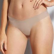 Calcinha Fio Dental Nude Bege Camurça Hope