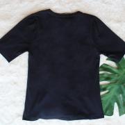 Camiseta em Malha com Bordado Cosmic Preta HIT
