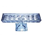 Centro de Mesa de Cristal de Chumbo Diamant Azul