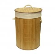 Cesto Em Bambu com Forro 49 cm Marrom Claro