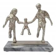 Escultura da Família em Alumínio