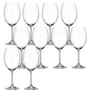 Jogo 10 Taça para Degustação de Vinho Cristal Ecológico 580 ml