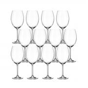 Jogo 12 Taça para Degustação de Vinho Cristal Ecológico 580 ml