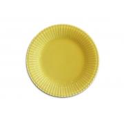 Jogo 4 Pratos de Sobremesa Frisada Amarelo 21cm