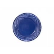 Jogo 4 Pratos de Sobremesa Frisada azul 20cm