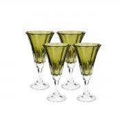 Jogo 4 Taças Cristal Ecológico para Água Verde 280 ml