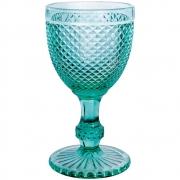 Jogo 4 Taças imperial Vidro Azul Tiffany 300 ml