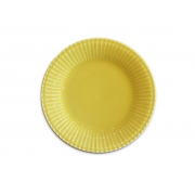 Jogo 6 Pratos de Sobremesa Frisada Amarelo 21cm