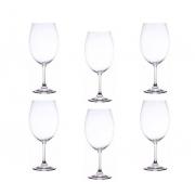 Jogo 6 Taça para Degustação de Vinho Cristal Ecológico 580 ml
