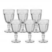 Jogo 6 Taças de Vidro para Água Transparente Gavin 310 ml