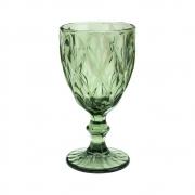 Jogo 6 Taças para Água de Vidro Diamond Verde 300 ml