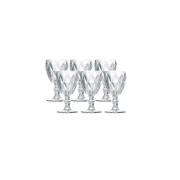 Jogo 6 Taças para Água Vidro Sodo Cálcico Diamond Transparente Lyor 325 ml